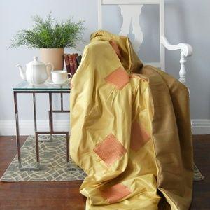 Other - Yellow Silk Throw Blanket